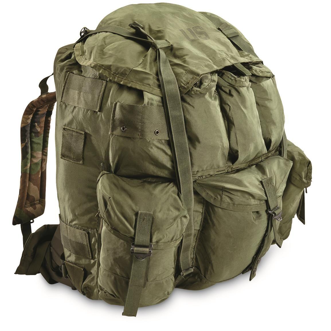 U S Military Surplus A L I C E Pack With Metal Frame Used Military Surplus Military Military Gear