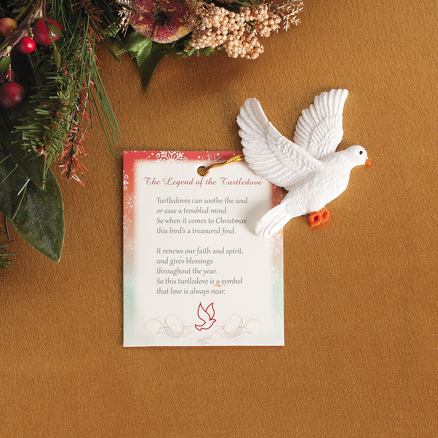 "Legend Of The Christmas Tree Poem: ""Legend Of The Turtle Dove"" Christmas Ornaments"