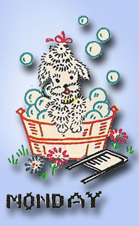 1950s Vogart ORIGINAL Day of the Week Poodles for Darlin' Teatowels Uncut | eBay
