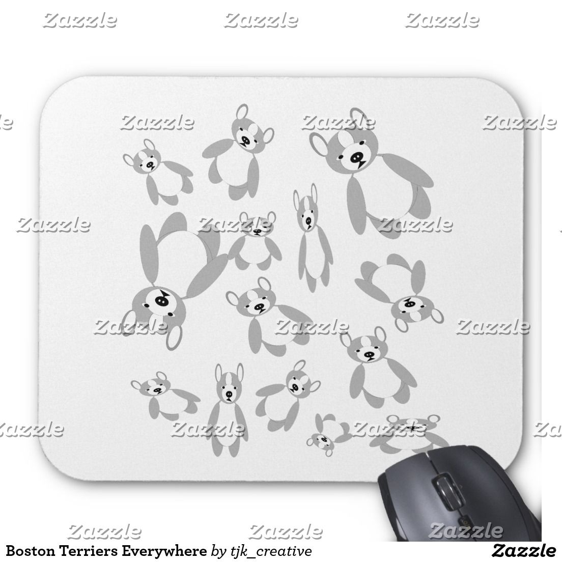 Boston Terriers Everywhere Mouse Pad Pinterest Computer Diagram