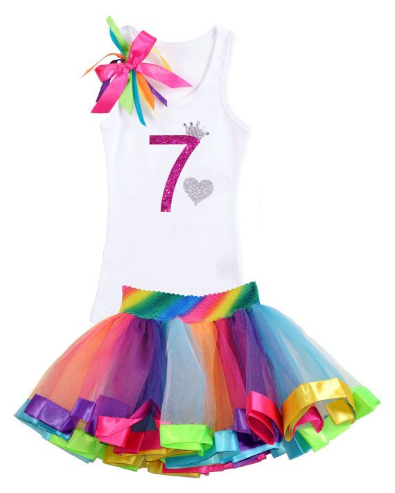 6th Birthday Shirt Rainbow Tutu Girls Princess Party Outfit 4PC Gift Set Personalized Name 6 Years Old Best Christmas