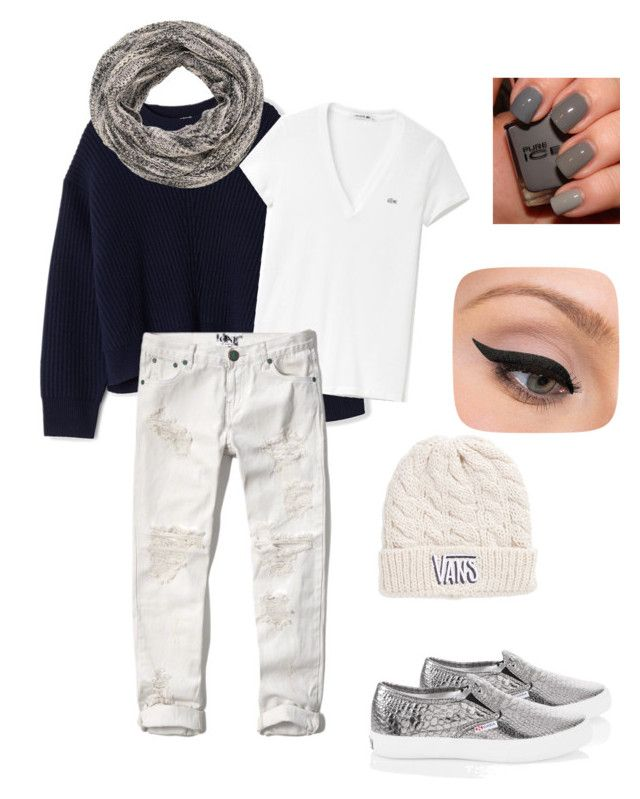 """Sin título #263"" by rosasantandergonzalez on Polyvore featuring moda, Acne Studios, Lacoste, Abercrombie & Fitch, White House Black Market, maurices, Vans y LORAC"