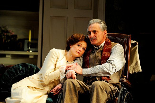 Naomi Frederick and Henry Goodman in ''The Winslow Boy'' at the Old Vic Theatre.	 		 Photo by Nobby Clark.