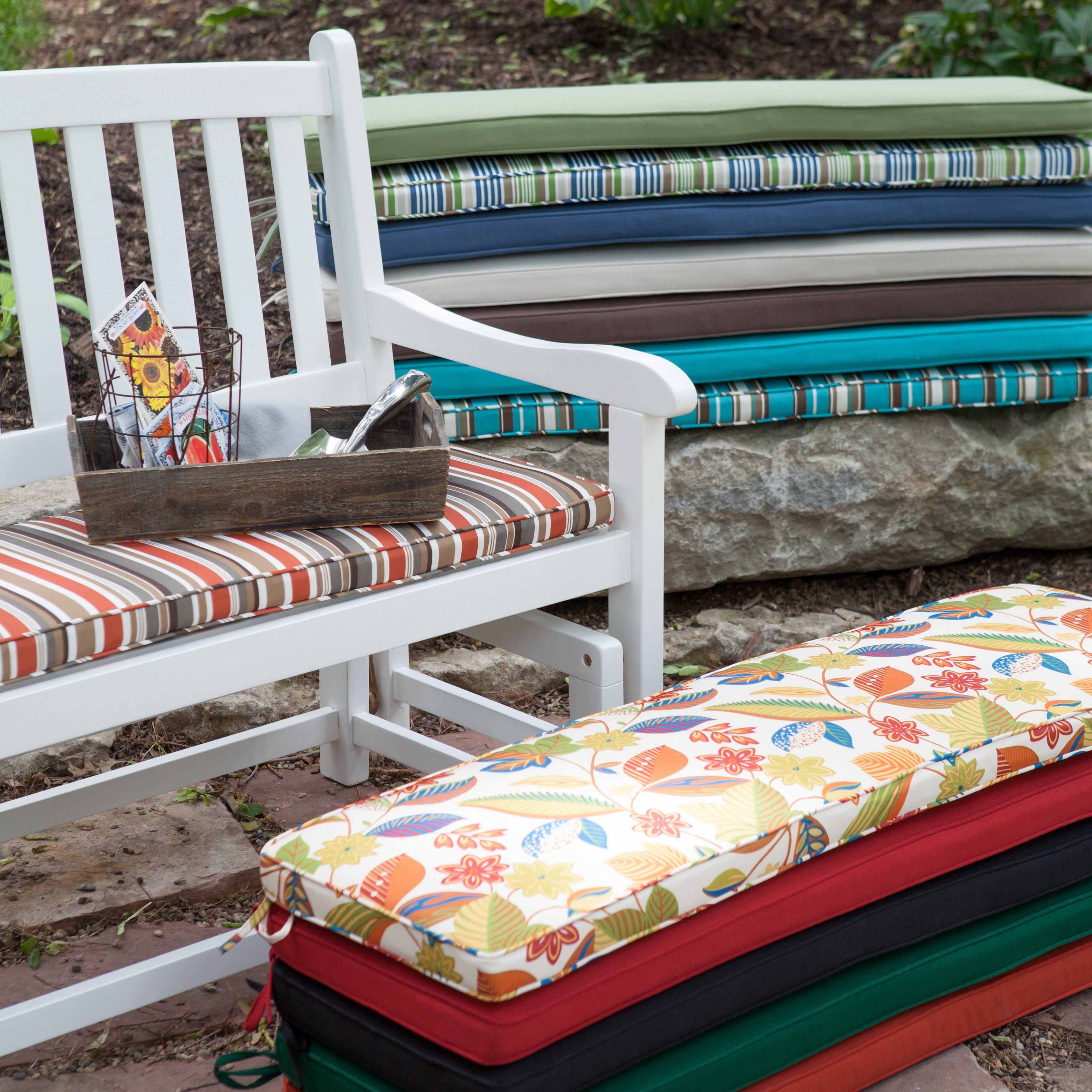Porch Swing U0026 Glider Outdoor Cushions   Outdoor