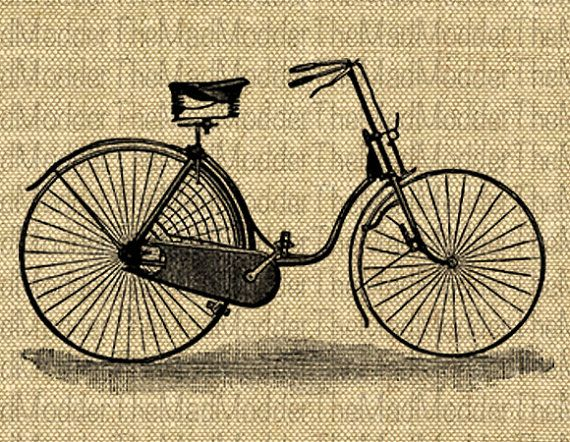 Vintage Bike Bicycle Art Graphic Instant Digital Download For Transfer To Fabric Paper Pillows Totes No 329 Bicycle Art Vintage Bike Bicycle