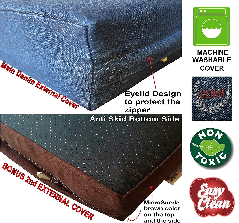 dogbed4less Premium Memory Foam Dog Bed, PressureRelief