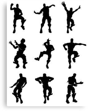 Fortnite Dances Small Canvas Print Dance Poster Dance Silhouette