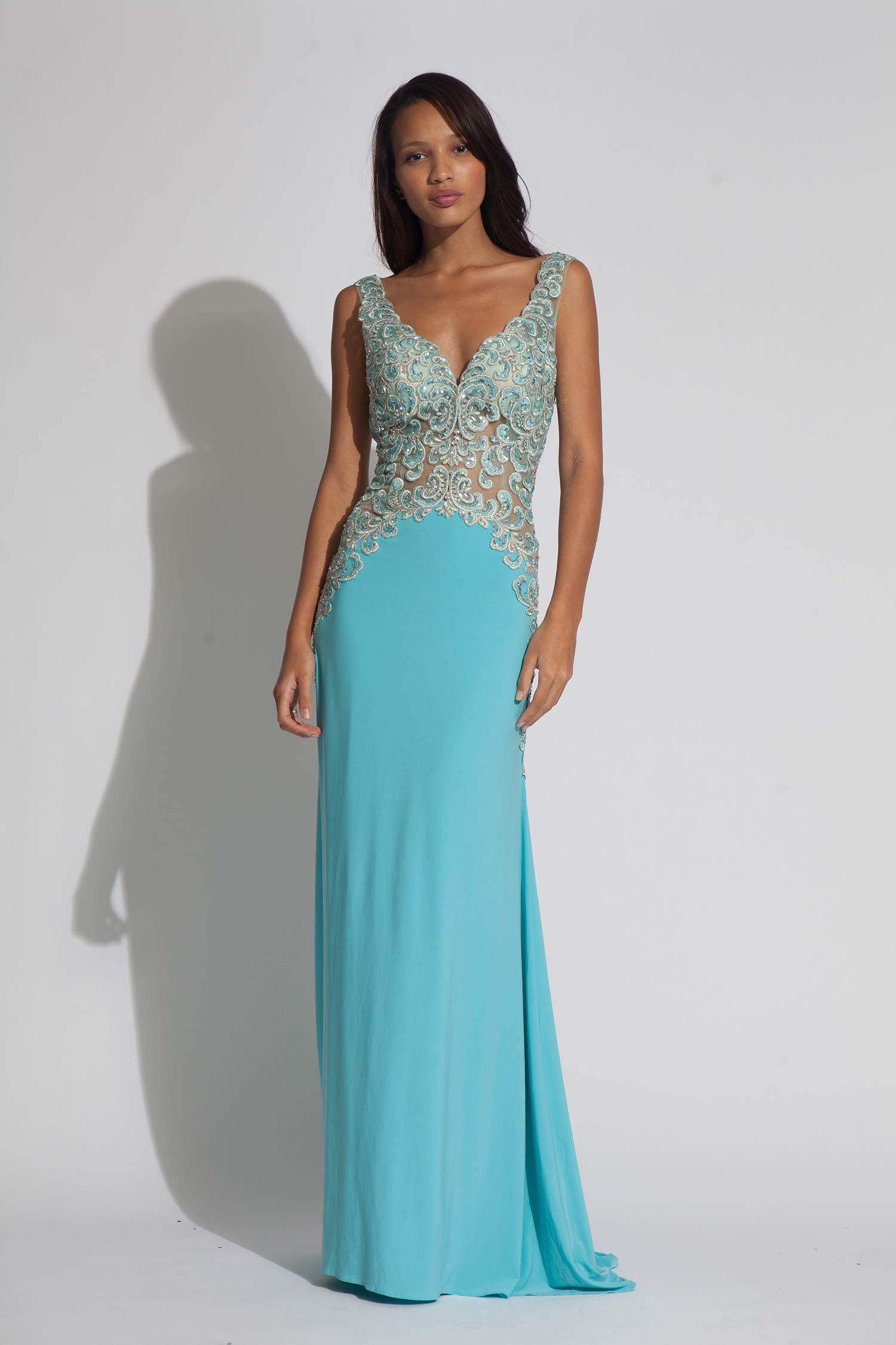 Jovani jersey embroidered dress | Evening dresses | Pinterest ...