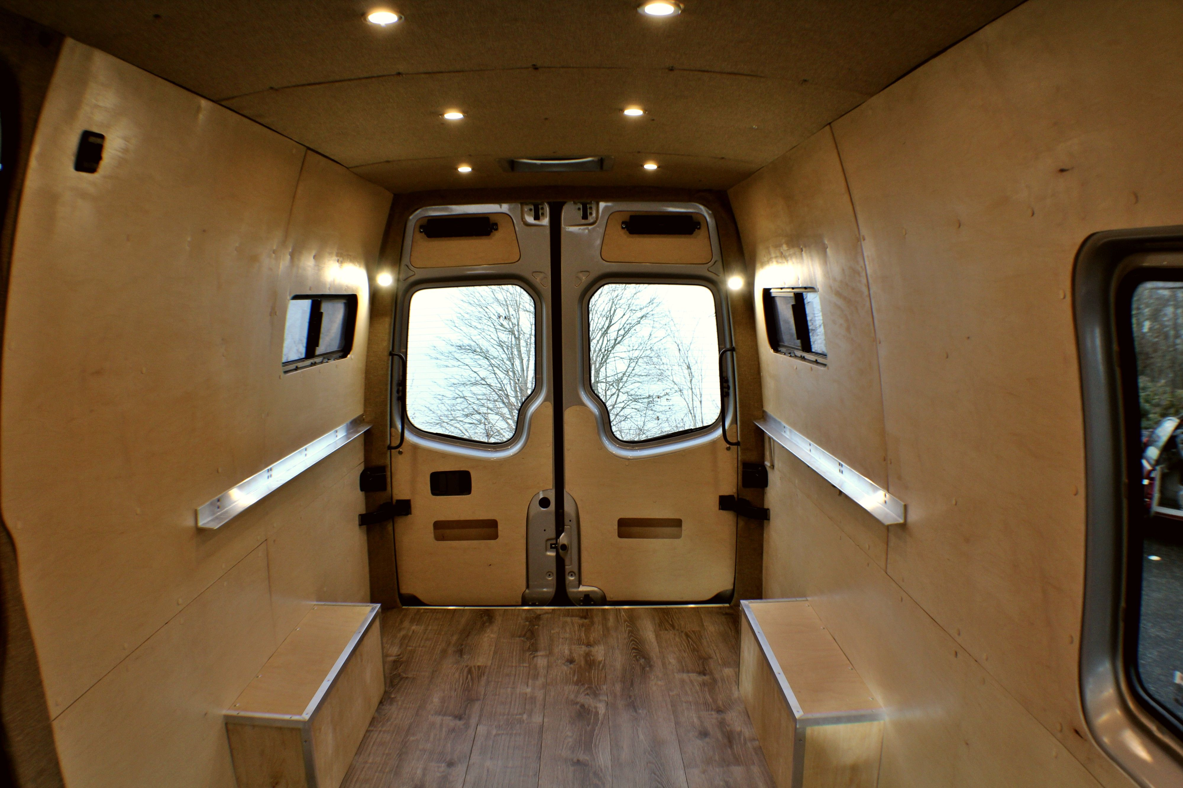 A Peek Into A Client S Ford Transit Which We Converted Through The First Stage Of Freedomvans Van Conversion Ford Transit Ford Transit Ford Transit Conversion