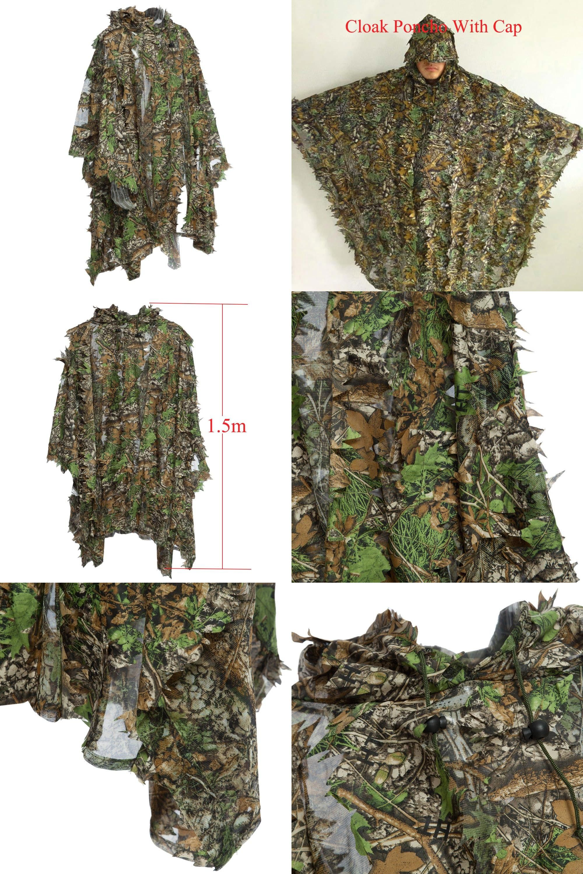 0eace2c3967  Visit to Buy  1.5m 3D Hunting Camouflage Ghillie With Cap Suit Clothes  Jungle
