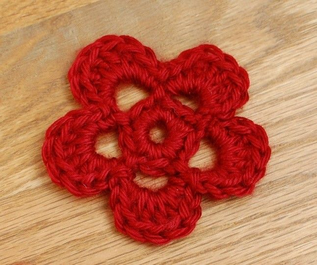 Sweet and Simple Crochet Flower Pattern | Hoja, Ganchillo y Flores
