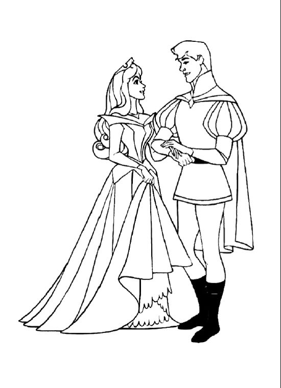 aurora hand with prince coloring pages coloring pages pinterest