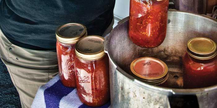 Jars of produce from Trenton preserve the season's best.