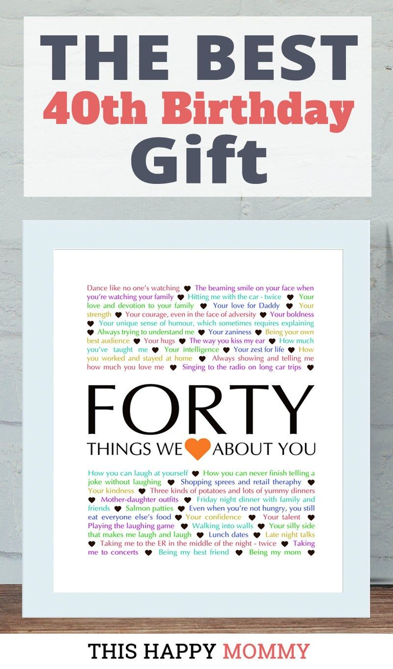 Milestone Birthday Gifts Things We Love About You Gifts Word Art Gift Milestone Birthday Gifts Homemade Gifts Diy Diy Birthday Gifts