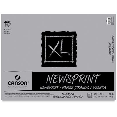 Canson Xl Newsprint Paper Drawing Letters Lettering