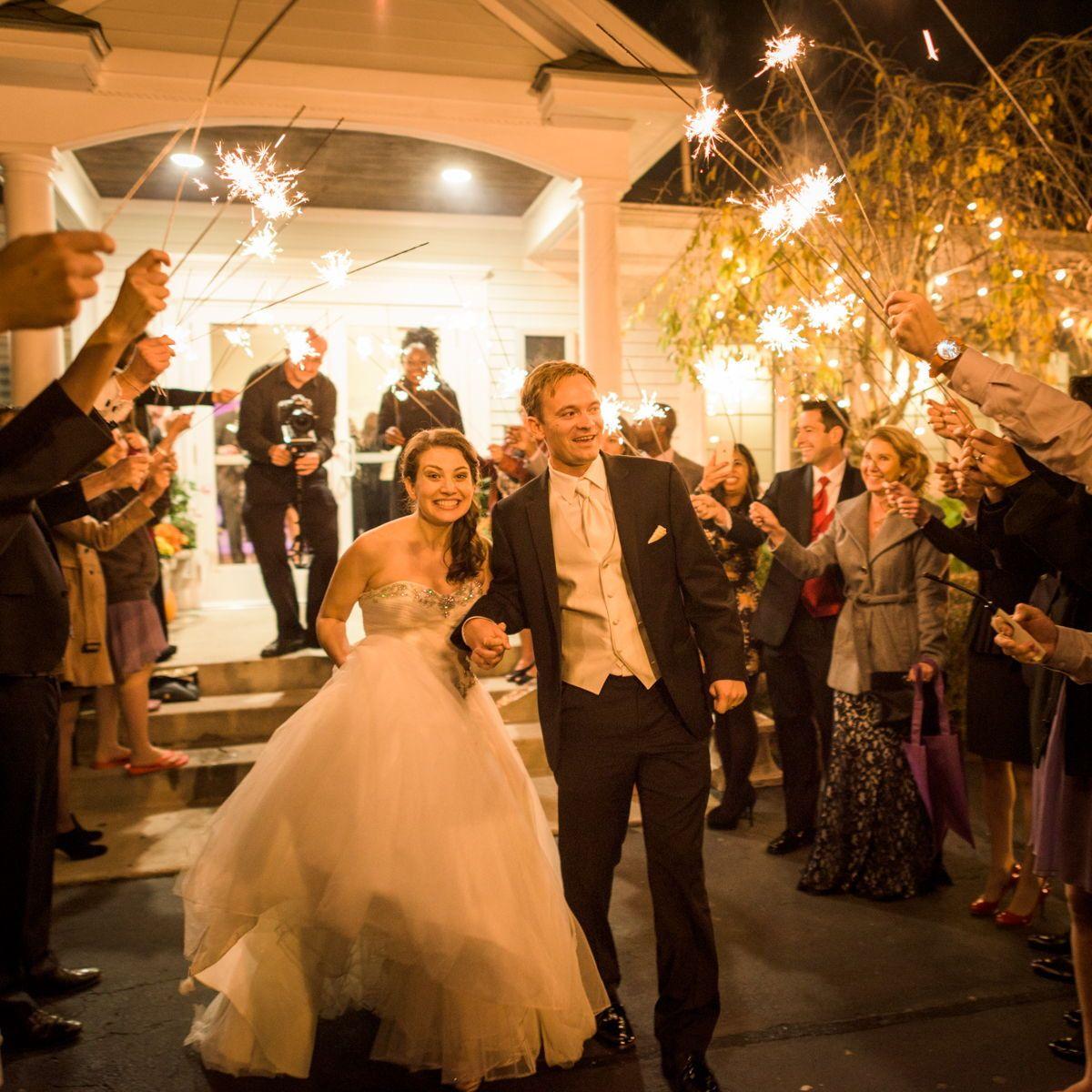 Another Happy Wedding Sparkler Exit Wedding Sparklers Sparkler Exit Wedding Instyle Weddings