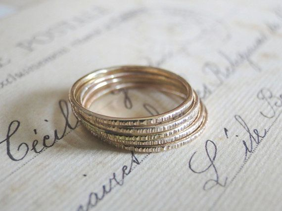 Gold Stackable Ring by fruitionLA on Etsy, $22.00