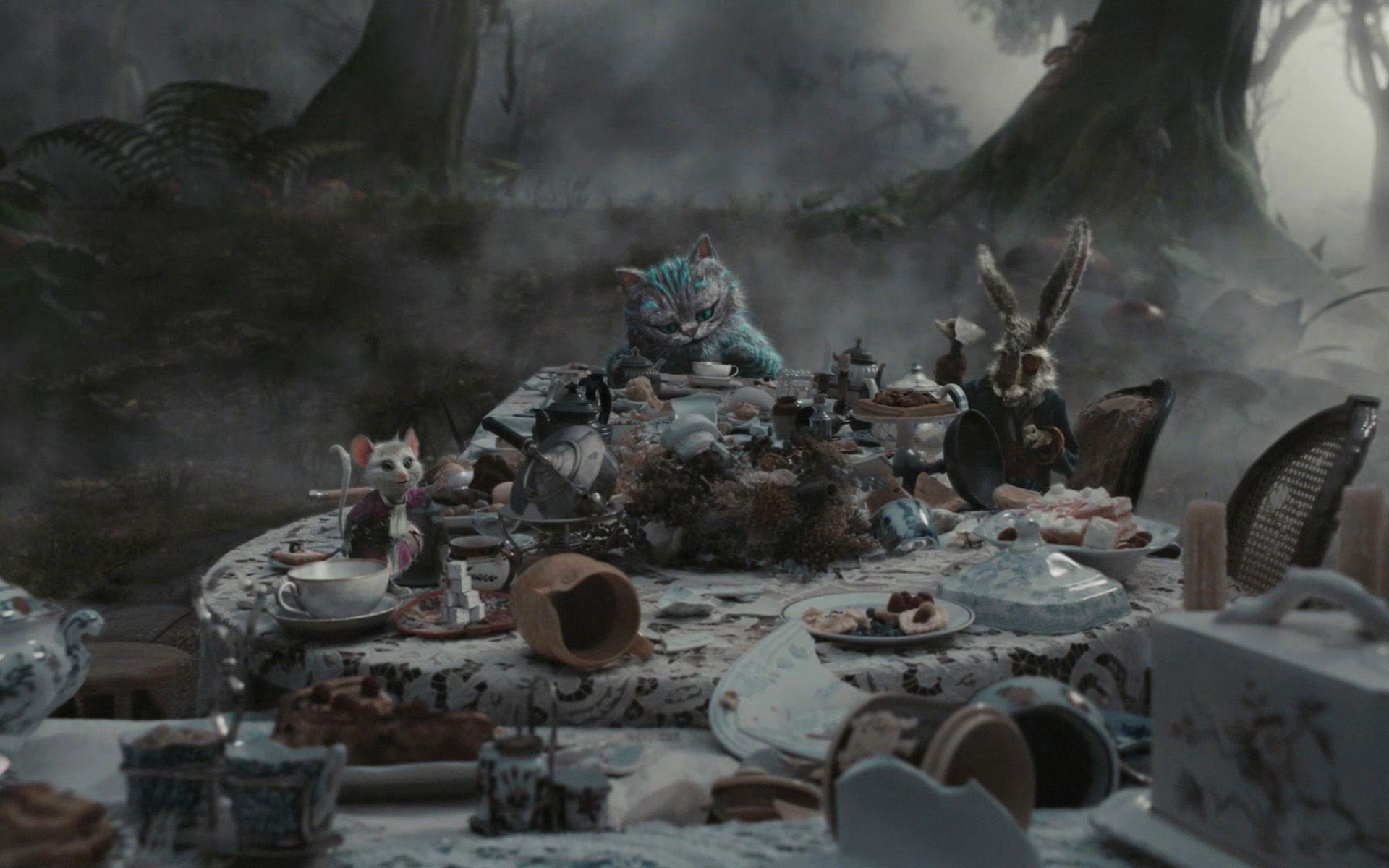 Movie Alice In Wonderland 2010 Alice In Wonderland Wallpaper Alice In Wonderland Aesthetic Dark Alice In Wonderland Alice In Wonderland Tea Party