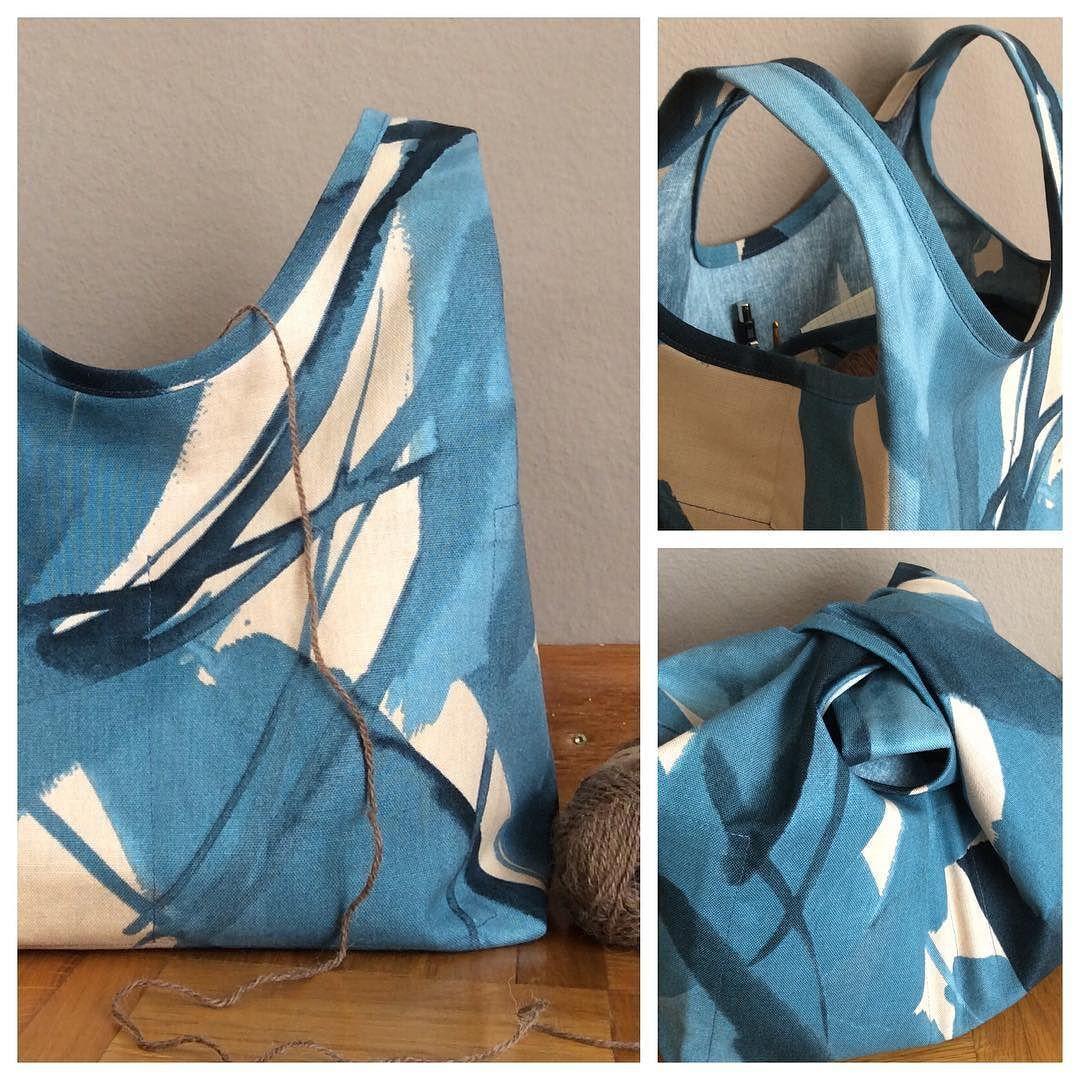 Stowe Bag de Grainline Studio en toile de coton Nani Iro Thank you so much @grainlinestudio for this pattern: It's perfect... I my new bag! #bag #knit #knitting #crochet #crocheting #naniiro #grainlinestudio #stowebag #sew #sewing #sewingaddict #cousumain #handmade #faitmain #cestmoiquilaifait by handmademarie