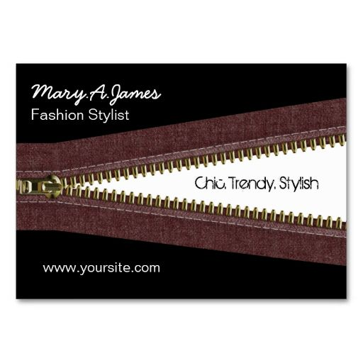 metal zipper fashion business card. This is a fully customizable business card and available on several paper types for your needs. You can upload your own image or use the image as is. Just click this template to get started!