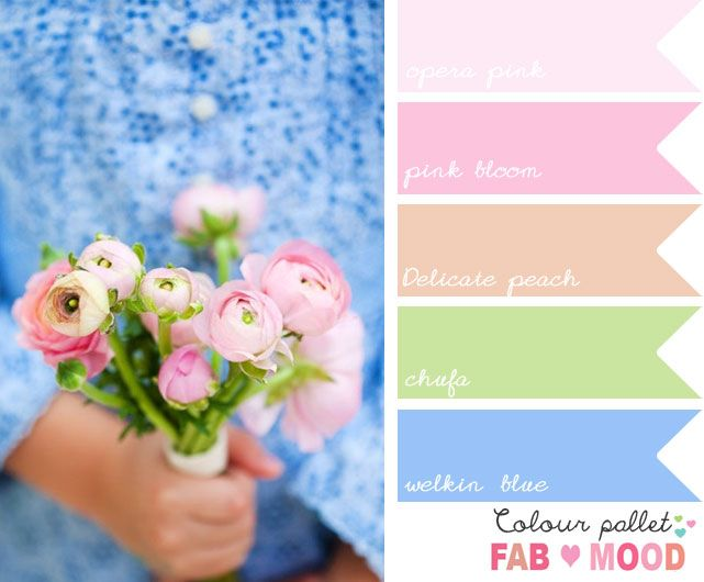 Blue Pink Wedding Colors Board Ideas Pink Wedding Colors Pink
