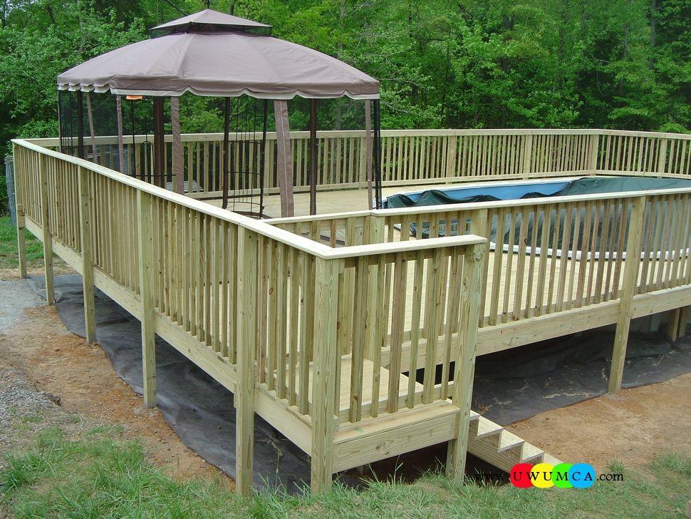 Swimming Pool:Wood Pool Deck Swimming Pool Deck Ideas Inground ...