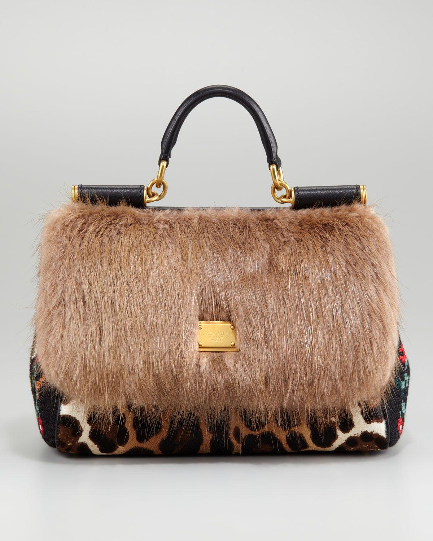Dolce And Gabbana Animal Print Handbag