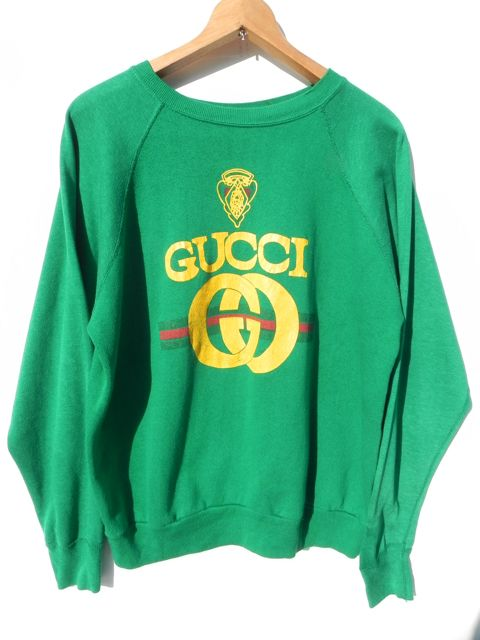 80s GUCCI BOOTLEG SWEAT L   panagorias 古着屋ブログ通販