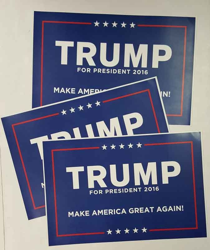 trump for president campaign signs donald trump make america