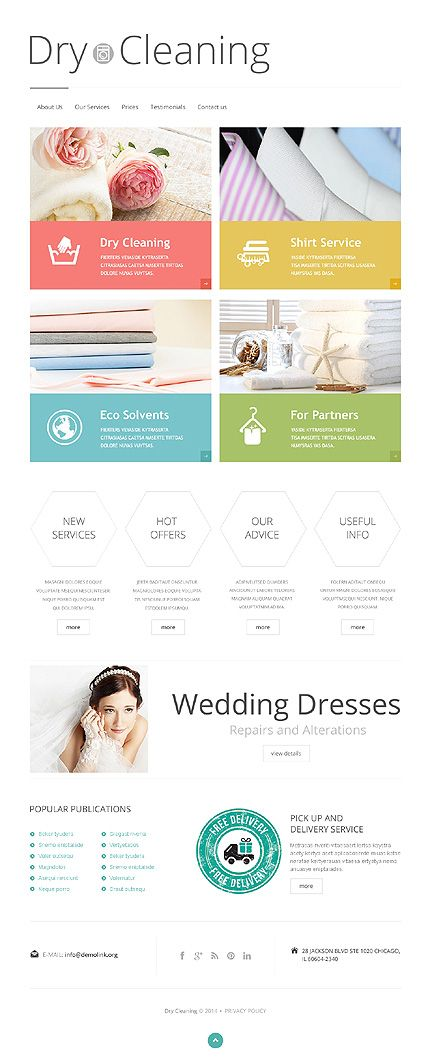 Template 47846 - Dry Cleaning Responsive Website Template ...
