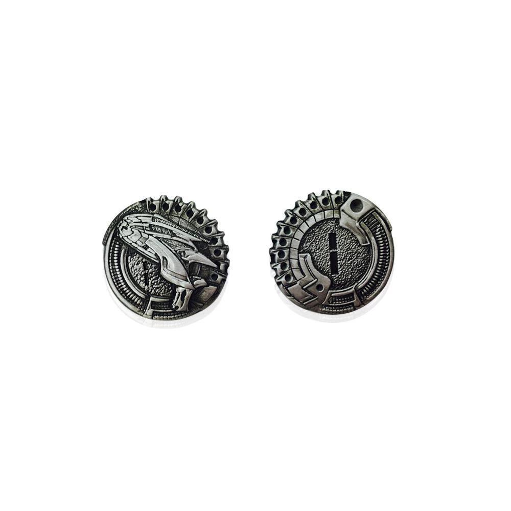 sci fi metal coins