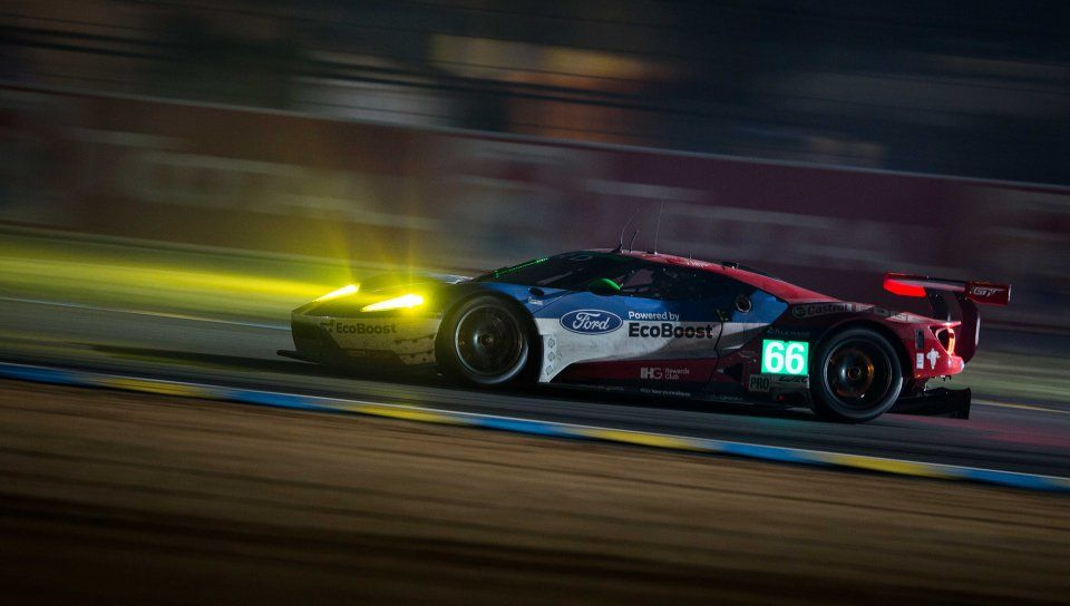 Ford Gt Lm Gte Race Car Motion Blur Track Wallpaper Ford Gt Ford Gt Le Mans Racing