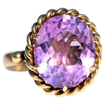 Check out this item at One Kings Lane! 14K Gold Amethyst Ring