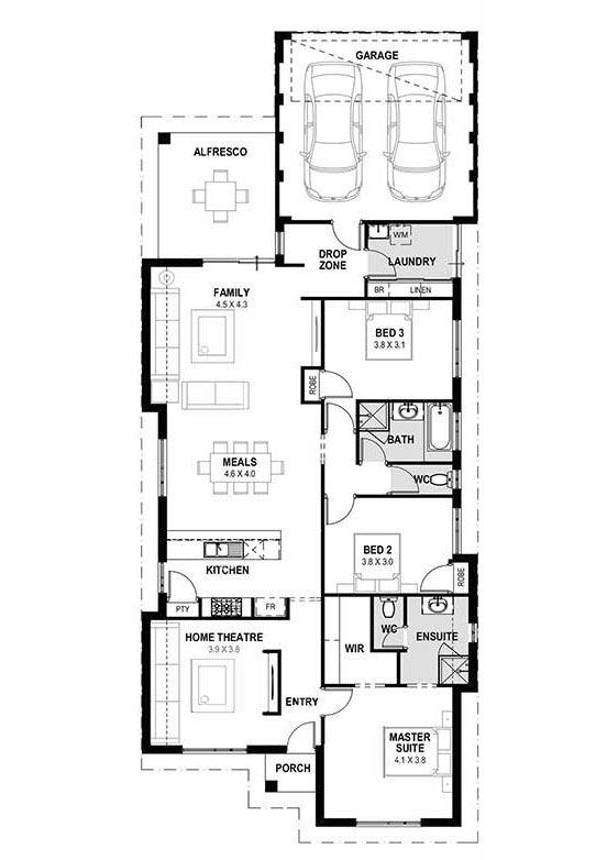 My monte carlo home designs perth single storey design narrow house wa more plans in pinterest also rh