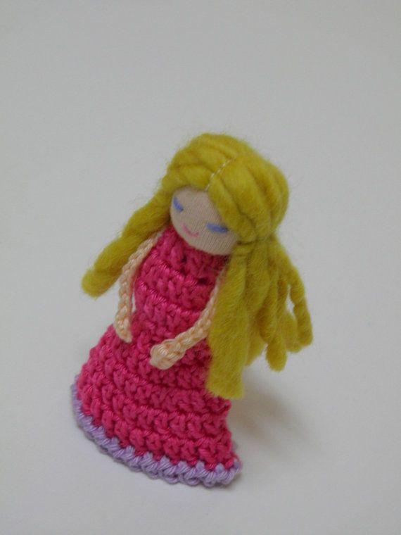 Maid Finger Puppet Girl Finger Crochet doll by AubreyMade on Etsy,