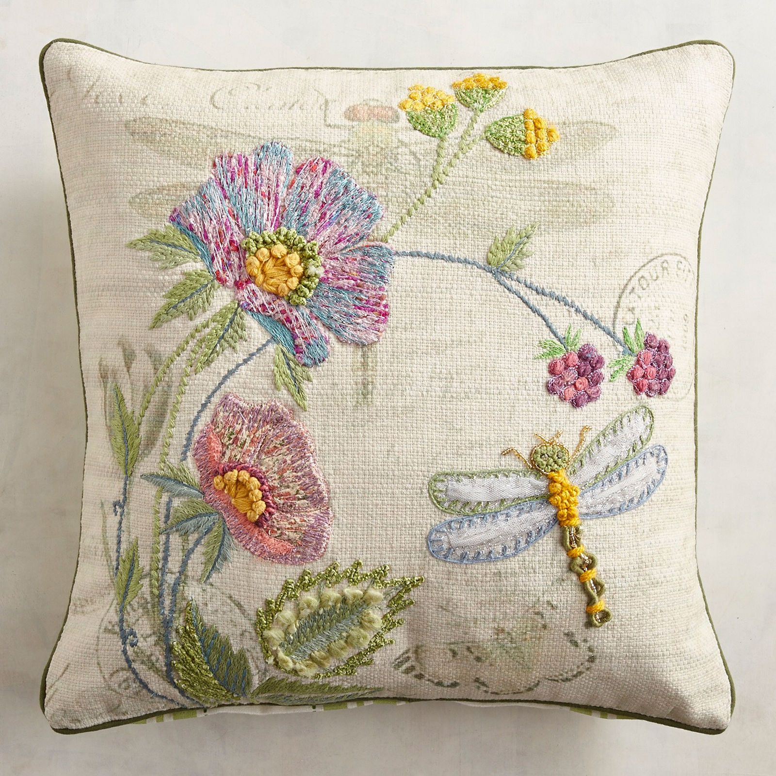 Tremendous Floral Dragonfly Pillow Pier 1 Imports Pillow Onthecornerstone Fun Painted Chair Ideas Images Onthecornerstoneorg