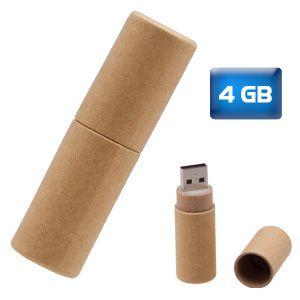 Usb Ecológica Tubo De Cartón Reciclado 4 Gb Medidas 65 Cm X 19