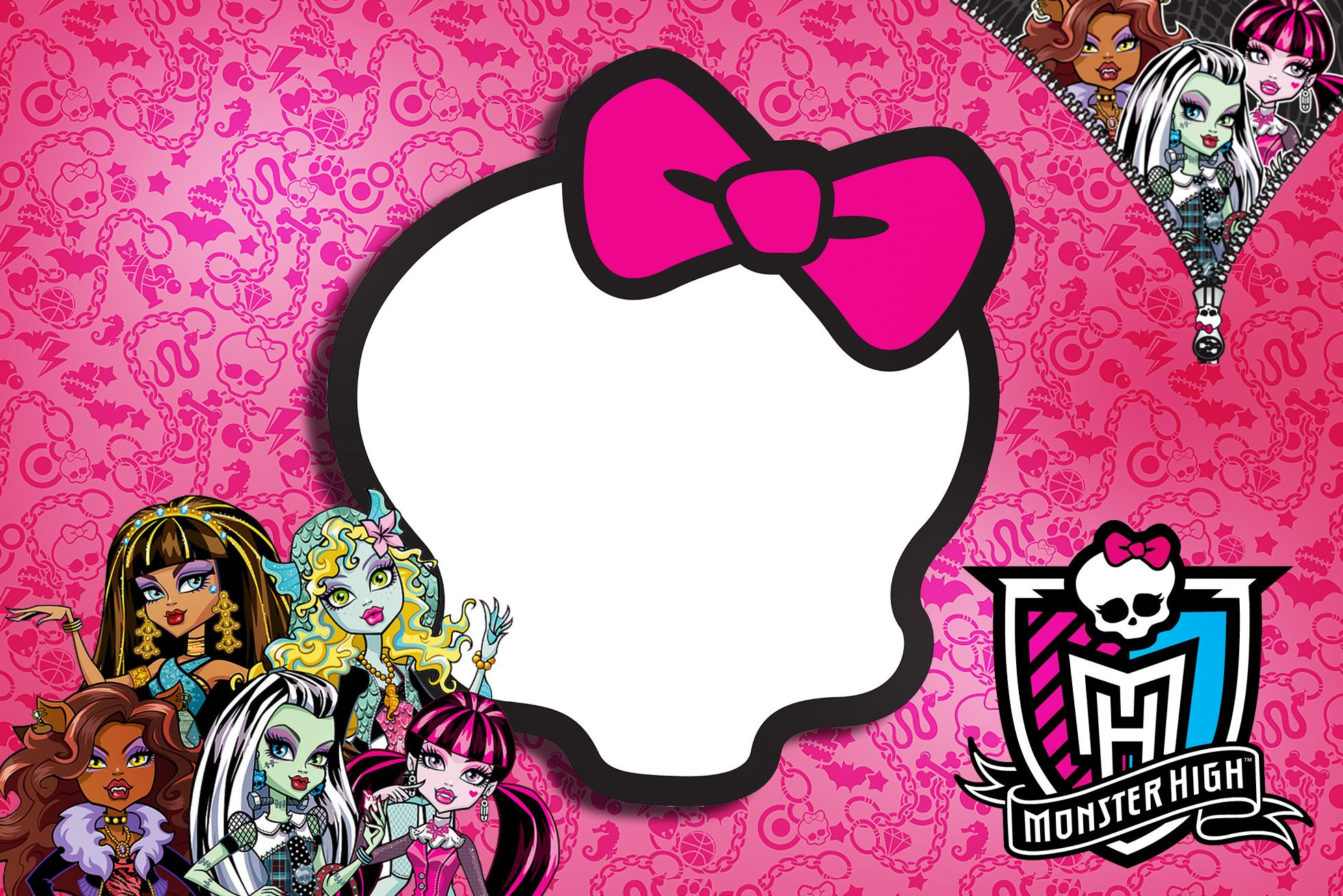 Awesome Free Printable Monster High Birthday Invitations Layout ...