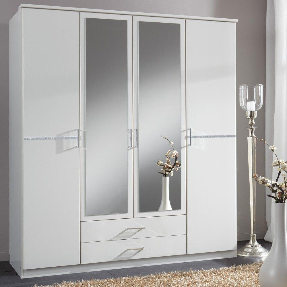 Kleiderschrank Spiegel - Es ist ein Chromrahmen Schiebetür ...