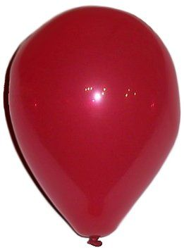 "Custom, Fun & Cool {Small Size 5"" Inch} 25 Bulk Pack of Helium & Air Latex Rubber Balloons w/ Modern Simple Celebration Party Dart Board Game Design [In Bright Ruby Red]"