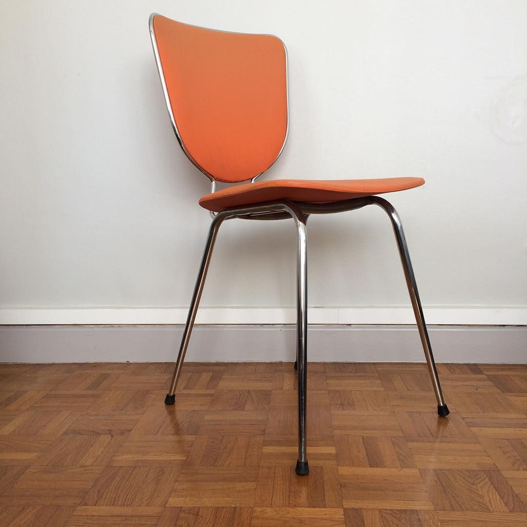 Chaise Orange Vintage Chaise Chair Orange Pop Metal Chrome Skai Vintage Vintagelife Vintagestyle Vintageshop Instagood In 2020 Home Decor Furniture Chaise