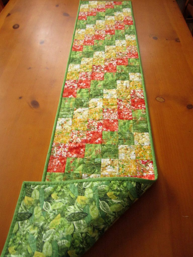 Terrific Handmade Quilted Table Runner Floral Table Decor Home Decor Download Free Architecture Designs Xaembritishbridgeorg