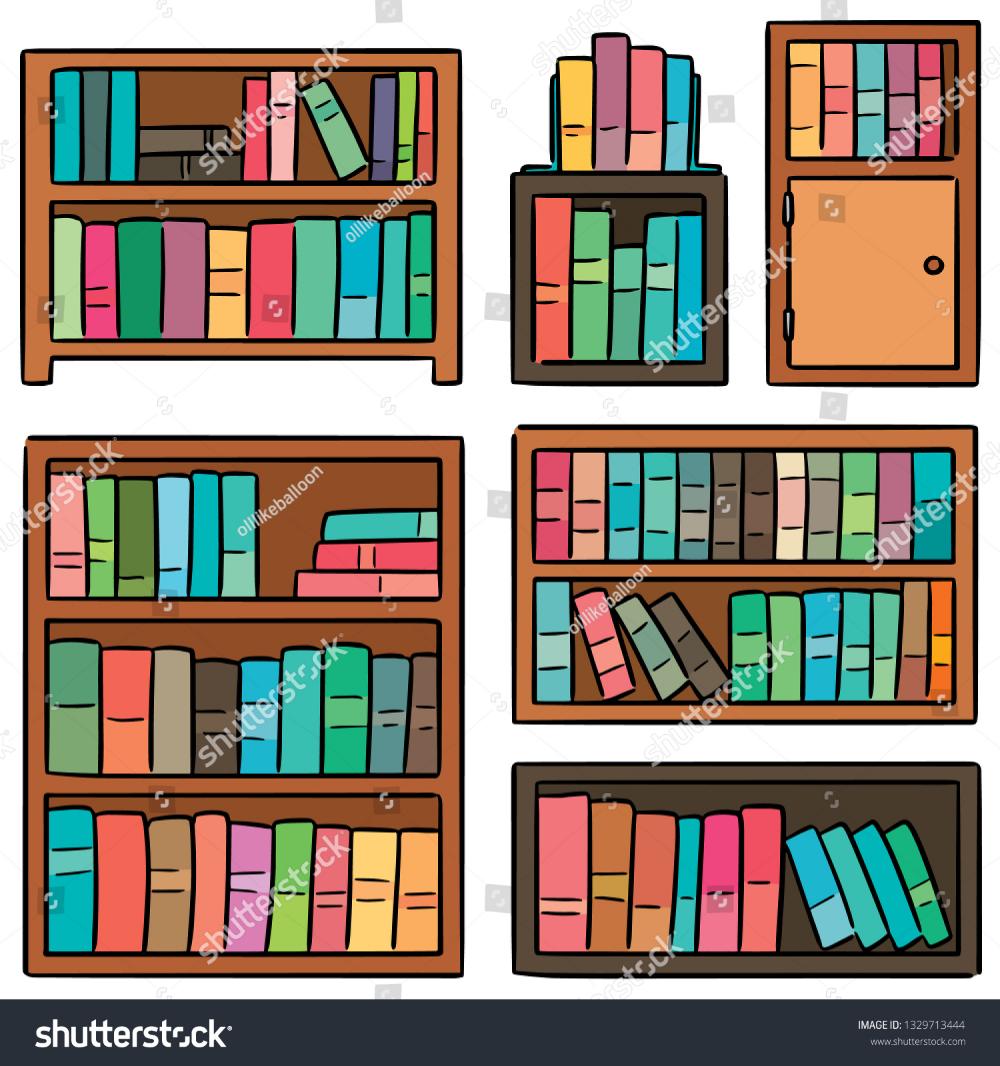 Vector Set Bookshelf Stock Vector Royalty Free 1329713444 Set Design Theatre Vector Images Bookshelves