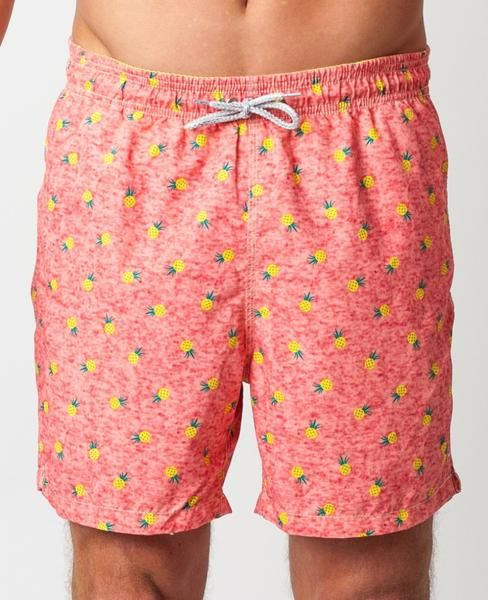 4039d8ff14 Pineapple Swim Trunks - Coral - Michael's Swimwear #pineapples #swim #mens  #michaelsswimwear