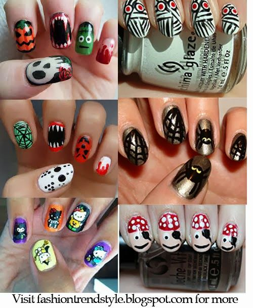 Halloween Easy Nail Art Video Tutorials 2 Nail Nailart
