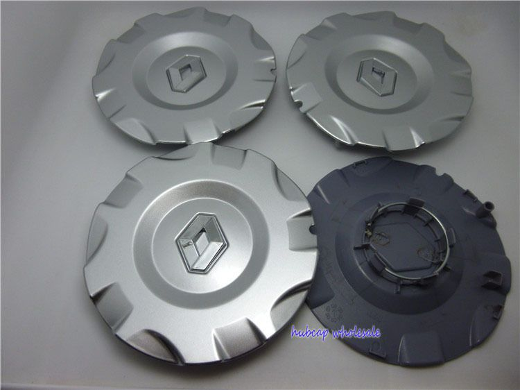 4/ x 60/ mm Alloy Wheels Hub Centre Cap Renault Grey//Chrome with Logo Set of 4