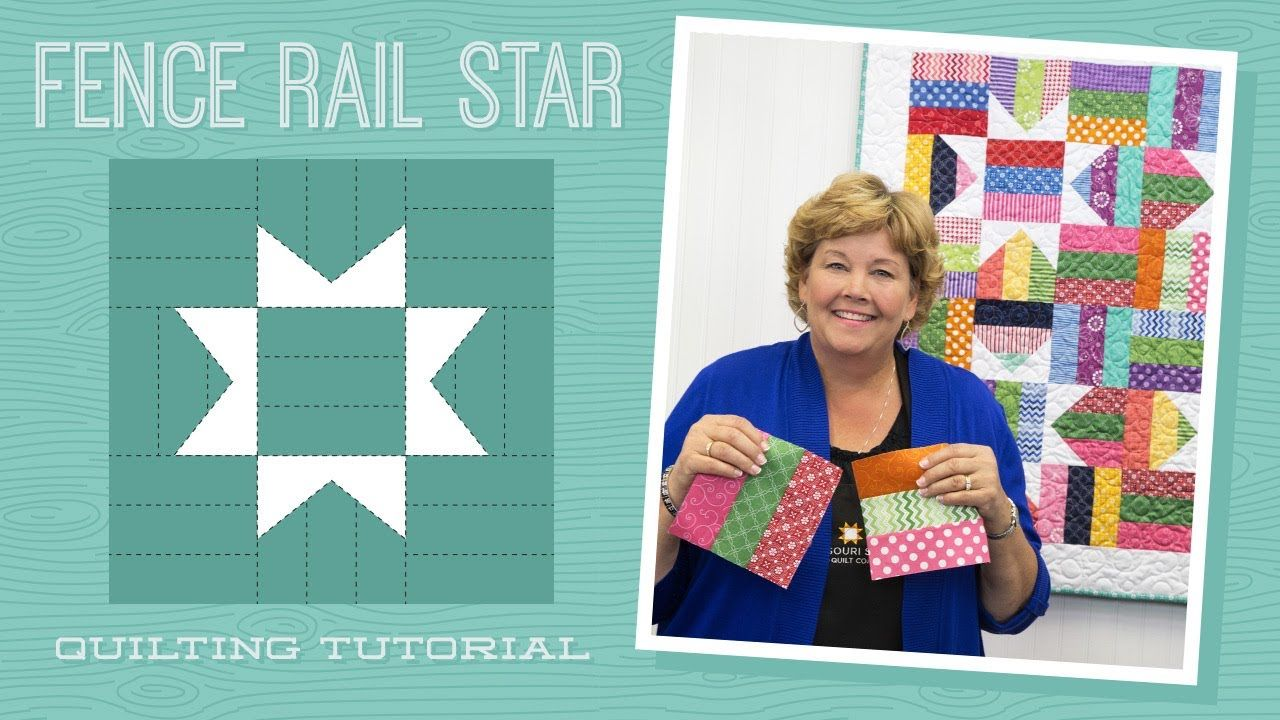 Click here for supplies httpbitfencerailstarquiltyt jenny msqc tutorial fence rail star quilt 1 jr yd for star legs 1 yd for border baditri Choice Image