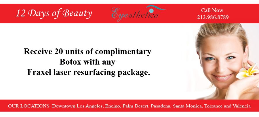 When You Use This 12daysofbeautyn Offer For Fraxel Laser You Will Get Complimentary Botox Eyesthetica Laser Resurfacing Cosmetic Surgery Botox