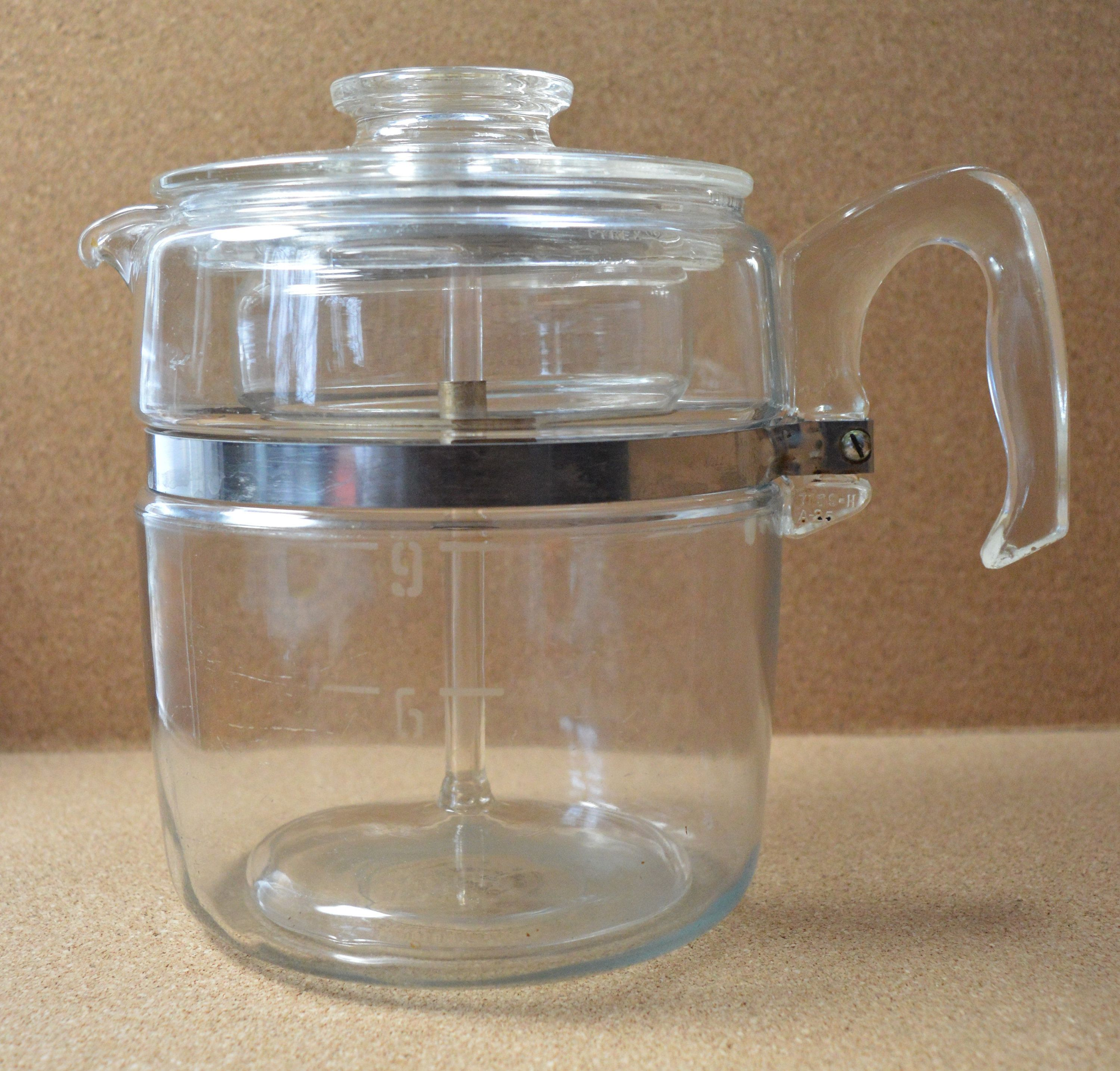 Vintage Flameware 7759 Stove Top 6 to 9 Cup Percolator Mid