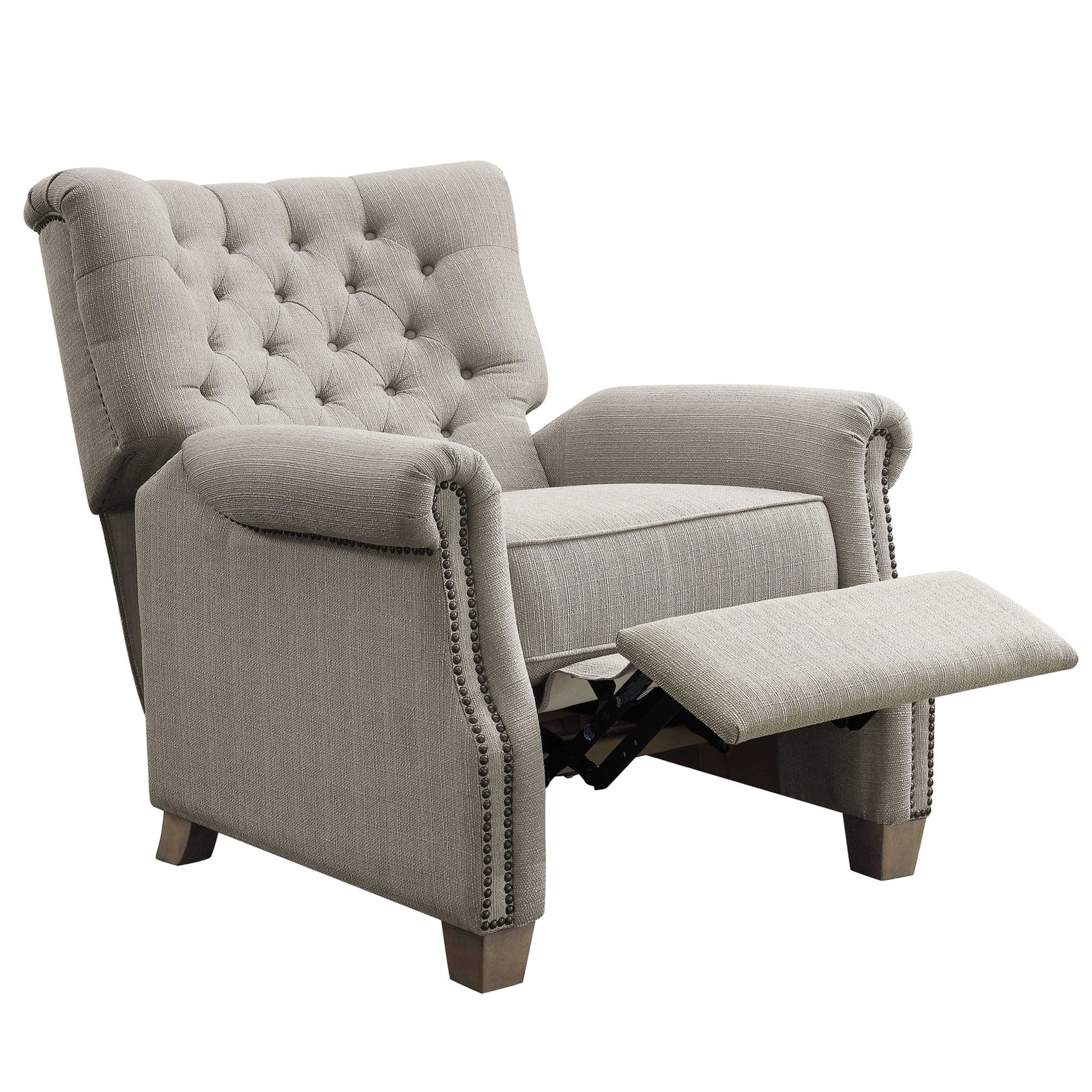 Better homes and garden tufted push back recliner beige